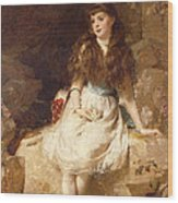 Lady Edith Amelia Ward Daughter Of The First Earl Of Dudley Wood Print