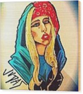 Lady Gaga Judas Wood Print