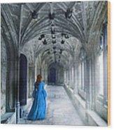 Lady In A Corridor Wood Print