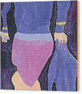 Lady In Blue Wood Print by Don Larison