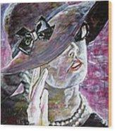 Lady In Gloves Wood Print by Linda Vaughon