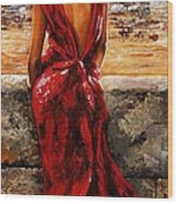 Lady In Red  34 -  I Love Budapest Wood Print by Emerico Imre Toth