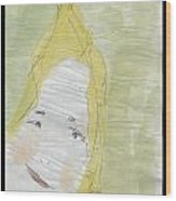 Lady In The Floor With Yellow Hair Wood Print