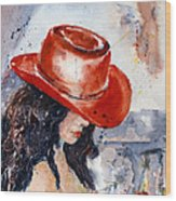 The Red Hat Wood Print