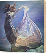 Lady In Water Oil On Canvas Painting Realsim  Wood Print