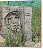 Lady In Wood Wood Print