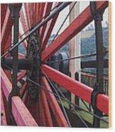 On The Isle Of Man, Lady Isabella Wheel Close Up Wood Print