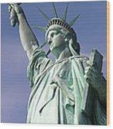 Lady Liberty 01 Wood Print