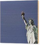 Lady Liberty  13 Wood Print