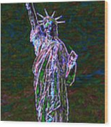 Lady Liberty 20130115 Wood Print by Wingsdomain Art and Photography