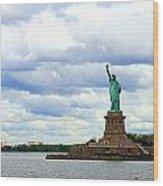 Lady Liberty B Wood Print
