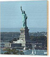 Lady Liberty Wood Print by Kristin Elmquist