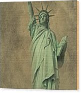 Lady Liberty New York Harbor Wood Print