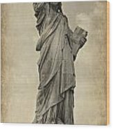 Lady Liberty No 11 Wood Print