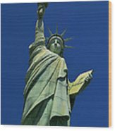 Lady Liberty Replica Wood Print
