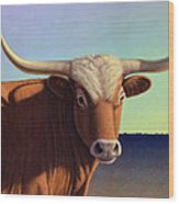 Lady Longhorn Wood Print by James W Johnson
