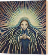 Lady Of Light Wood Print by Lyn Pacificar