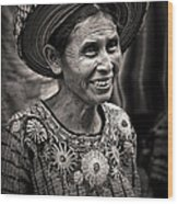 Lady Of Santiago Atitlan Wood Print