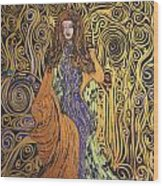 Lady Of Swirl Wood Print