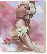 Lady Of The Camellias Wood Print