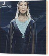 Lady Of The Galadrim Wood Print