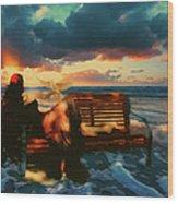 Lady Of The Ocean Wood Print