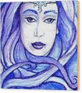 Lady Of The Winter Solstice Wood Print
