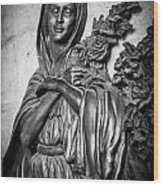 Lady On The Wall Wood Print