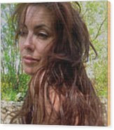 Lady Primavera. Wood Print