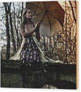 Lady Rain Wood Print