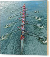 Lady Scullers Wood Print