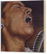 Lady Sings Wood Print