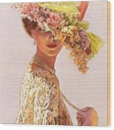 Lady Victoria Victorian Elegance Wood Print by Sue Halstenberg