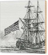 Lady Washington At Friendly Cove Wood Print