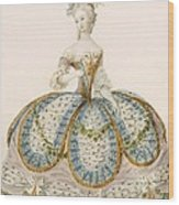 Lady Wearing Dress For A Royal Wood Print