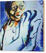 Lady With A Cane Wood Print