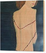 Lady With Beads From Shan Pecks Photograthy  Wood Print