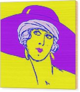 Lady With Hat 1c Wood Print