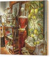 Lady With Lemons Wood Print