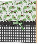 Ladybug Delight Wood Print