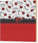 Ladybugs Occasion Wood Print