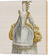 Ladys Ball Gown, Engraved By Dupin Wood Print