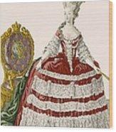 Ladys Court Gown In Dark Cherry Wood Print