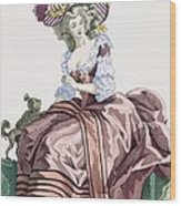 Ladys Elegant Caramel Coloured Satin Wood Print