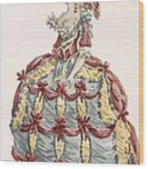 Ladys Gown For Cour A Leiquette Wood Print