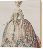 Ladys Gown For The Royal Court Wood Print