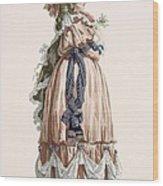 Ladys Summer Walking Gown, Engraved Wood Print