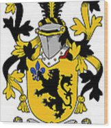Laffan Coat Of Arms Irish Wood Print