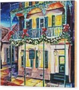 Lafitte Guest House At Christmas Wood Print