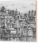 Lago Di Como-brienno Wood Print